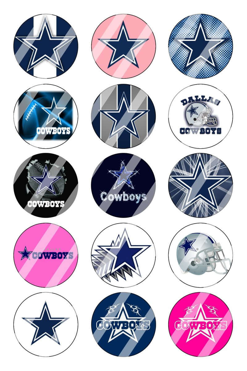 Dallas Cowboys Bottle Cap 1 Quot Circle Images Sheet 2