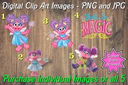 Abby Cadabby Digital Clip Art Images #1-5