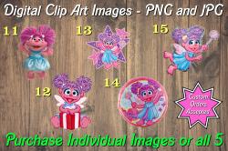 Abby Cadabby Digital Clip Art Images #11-15