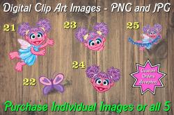 Abby Cadabby Digital Clip Art Images #21-25