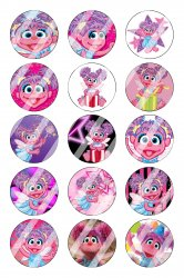 Abby Cadabby Bottle Cap 1 Circle Images Sheet #1 (instant download or pre cut)