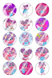 Abby Cadabby Bottle Cap 1 Circle Images Sheet #2 (instant download or pre cut)