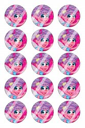 Abby Cadabby Bottle Cap 1 Circle Images Sheet #A2 (instant download or pre cut)