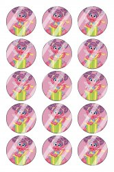 Abby Cadabby Bottle Cap 1 Circle Images Sheet #A6 (instant download or pre cut)