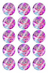 Abby Cadabby Bottle Cap 1 Circle Images Sheet #A10 instant download or pre cut