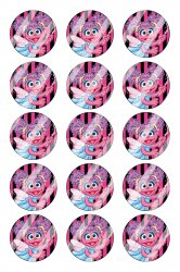 Abby Cadabby Bottle Cap 1 Circle Images Sheet #A12 instant download or pre cut