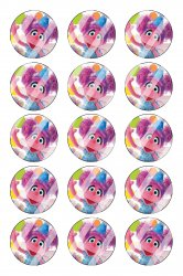 Abby Cadabby Bottle Cap 1 Circle Images Sheet #A15 instant download or pre cut