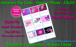 Abby Cadabby Digital or Printed Valentines Day Cards 2.5x3.5 Sheet #1