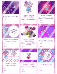 Abby Cadabby Valentines Day Cards Sheet #2 (instant download or printed)