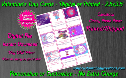 Abby Cadabby Digital or Printed Valentines Day Cards 2.5x3.5 Sheet #2