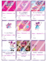 Abby Cadabby Valentines Day Cards Sheet #3 (instant download or printed)