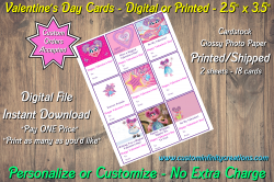 Abby Cadabby Digital or Printed Valentines Day Cards 2.5x3.5 Sheet #3