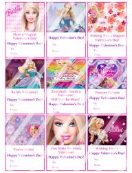 '.Barbie Valentines Day Cards #1.'