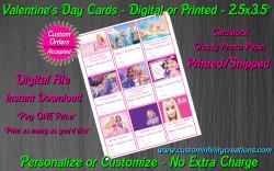Barbie Digital or Printed Valentines Day Cards 2.5x3.5 Sheet #3