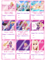 '.Barbie Valentines Day Cards #3.'