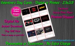 Batman Digital or Printed Valentines Day Cards 2.5x3.5 Sheet #3