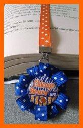 Chicago Bears Ribbon Bookmark #F4 (you choose image and ribbon colors)