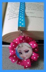 Disney Frozen Ribbon Bookmark #F6 (you choose image and ribbon colors)