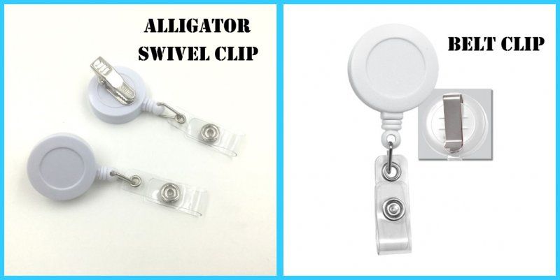 Swivel Alligator Clip (shown on left) Belt Clip (shown on right) Click image to view larger
