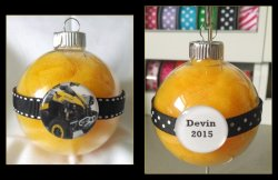 4 Wheeler Quad Round Glass Ornament #A9 (choose image and colors)