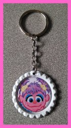 Abby Cadabby Bottle Cap Keychain #C6 (you choose image and bottle cap color)