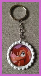 Aladdin Jasmine Bottle Cap Keychain #B13 (you choose image and bottle cap color)