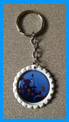 Aladdin Jasmine Bottle Cap Keychain #C10 (you choose image and bottle cap color)