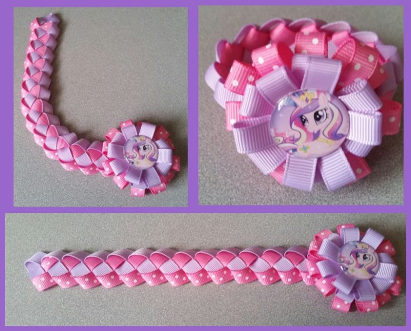 My Little Pony Hair Bow Ribbon Bun Wrap A7 You Choose Image And
