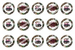 4 Wheeler Bottle Cap 1 Circle Images Sheet #2x (instant download or pre cut)
