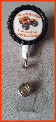 4 Wheeler Quad Retractable Bottle Cap Badge Reel #A13 (choose image and clip)
