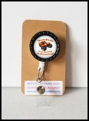 4 Wheeler Quad Retractable Bottle Cap Badge Reel #A13 (choose image and clip)