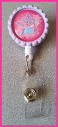 Abby Cadabby Retractable Bottle Cap Badge Reel #B3 (choose image, clip, color)