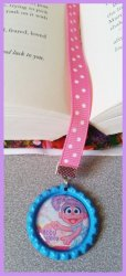 Abby Cadabby Bottle Cap Bookmark #B13 (choose image, bottlecap and ribbon color)
