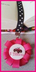 4 Wheeler Quad Ribbon Bookmark #A5 (choose image and ribbon colors)