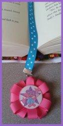 Abby Cadabby Ribbon Bookmark #A3 (choose image and ribbon colors)