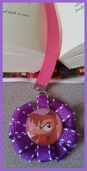 Aladdin Jasmine Ribbon Bookmark #B13 (choose image and ribbon colors)