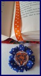 Chicago Bears Ribbon Bookmark #A15 (you choose image and ribbon colors)