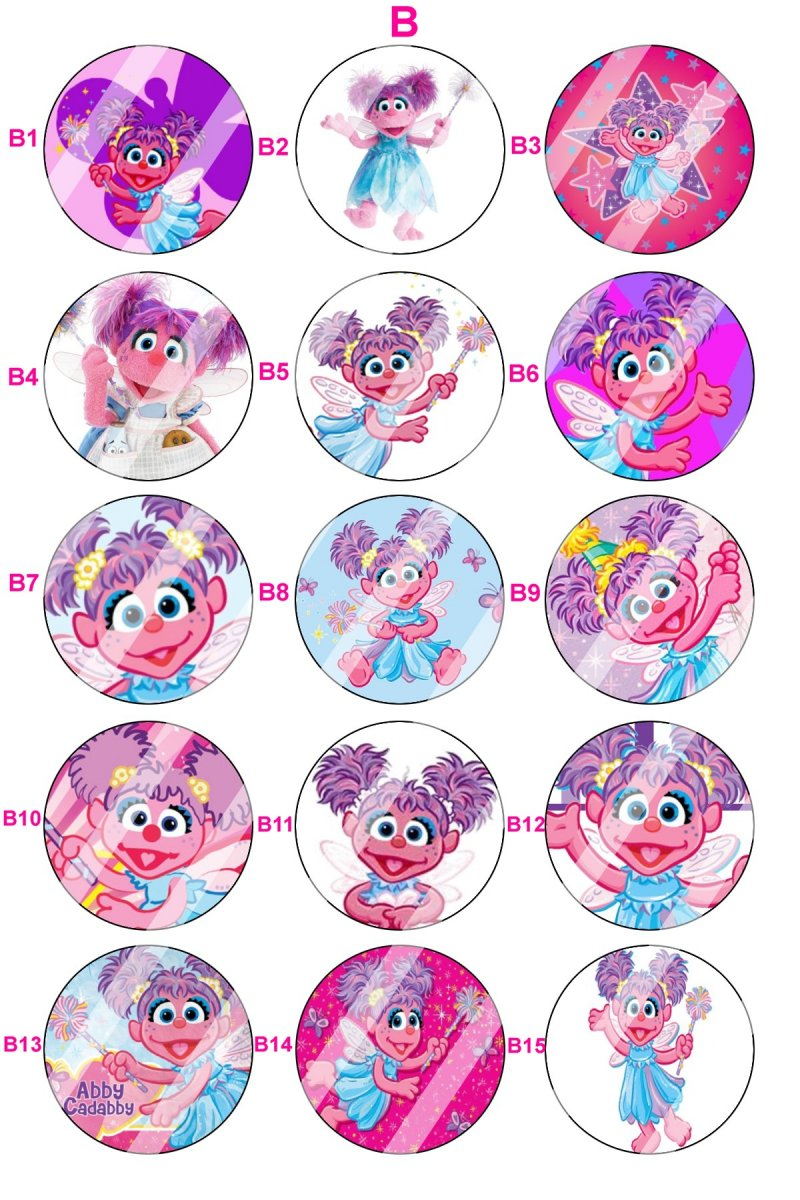 abby cadabby bottle cap charm b13 choose image and bottle cap color
