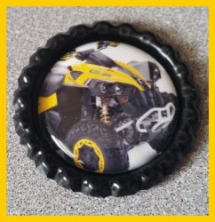 4 Wheeler Quad Bottle Cap Magnet #A9 (choose image and bottle cap color)