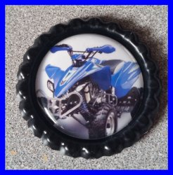 4 Wheeler Quad Bottle Cap Magnet #A11 (choose image and bottle cap color)