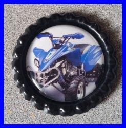 4 Wheeler Quad Bottle Cap Magnet #A11 (choose image and bottle cap color)