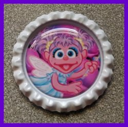 Abby Cadabby Bottle Cap Magnet #A10 (choose image and bottle cap color)