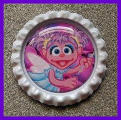 Abby Cadabby Bottle Cap Magnet #A10 (choose image and bottle cap color)
