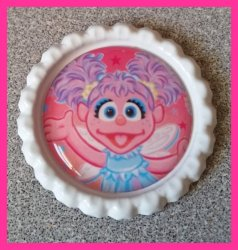Abby Cadabby Bottle Cap Magnet #A13 (choose image and bottle cap color)