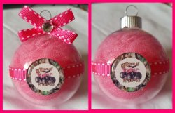 4 Wheeler Quad Round Glass Ornament #B1 (choose image and colors)