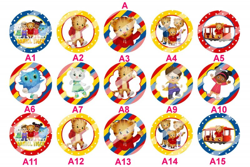 Daniel Tiger's Neighborhood Round Glass Ornament A4 (choose image ...
