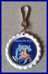 Aladdin Jasmine Bottle Cap Zipper Pull #B15 (choose image and bottle cap color)