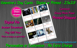 Star Wars Digital or Printed Valentines Day Cards 2.5x3.5 Sheet #2