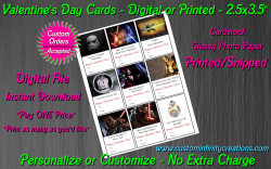 Star Wars Digital or Printed Valentines Day Cards 2.5x3.5 Sheet #4