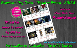 Star Wars Digital or Printed Valentines Day Cards 2.5x3.5 Sheet #6